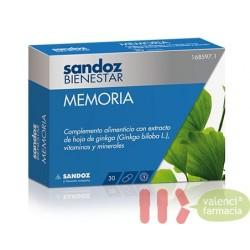 MEMORIA SANDOZ BIENESTAR 30 CAPS
