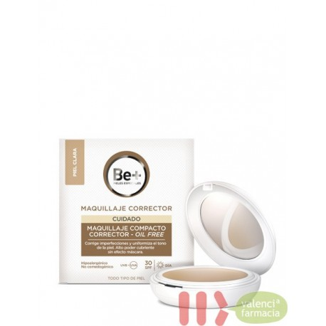 BE+ MAQUILLAJE COMPACTO CORRECTOR OIL-FREE SPF 30 PIEL OSCURA