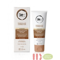 BE+MAQUILLAJE CORRECTOR FLUIDO OIL-FREE SPF+20 PIEL OSCURA