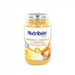 NUTRIBEN 265 JUNIOR MANZANA NARANJA PLATANO GALLETA