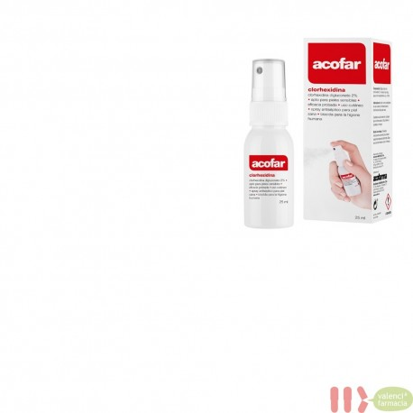 CLORHEXIDINA DIGLUCONATO 2 % ACOFAR SPRAY 25 ML