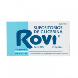 SUPOSITORIOS GLICERINA ROVI INFANTIL 1.44 G 15 SUPOSITORIOS