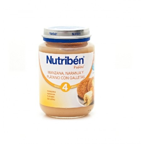 NUTRIBEN JUNIOR MANZANA NARANJA PLATANO GALLETA