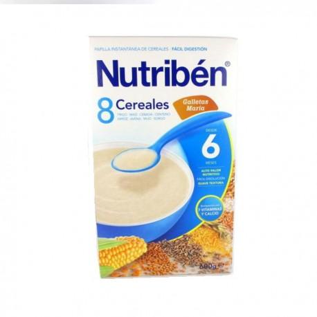 NUTRIBEN 8 CEREALES GALLETAS MARIA +6m
