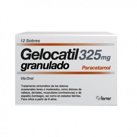 GELOCATIL 325 MG 12 SOBRES GRANULADO