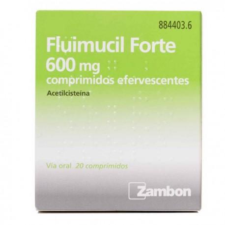 FLUIMUCIL FORTE 600 MG 20 COMPRIMIDOS EFERVESCENTES