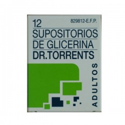SUPOSITORIOS GLICERINA DR TORRENTS ADULTOS 3.27 G 12 SUPOSITORIOS