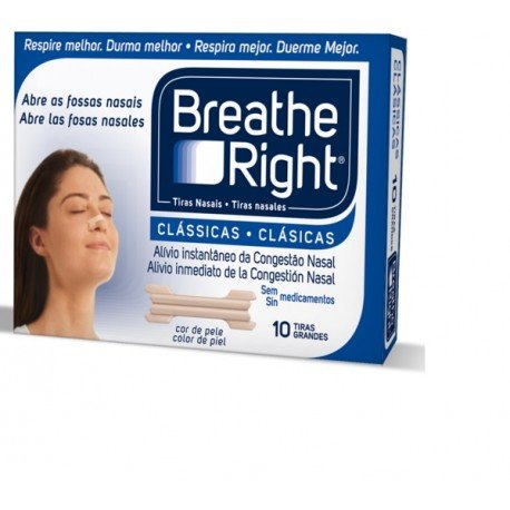 TIRAS NASALES BREATHE RIGHT GRANDES 30U