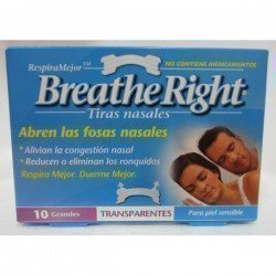 TIRAS NASAL BREATHE TRANSPARENTE GRANDE 10U