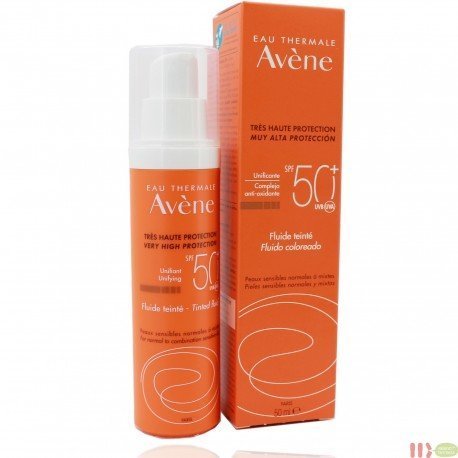 AVENE SOLAR FLUIDO 50+ COLOREADO 50ML