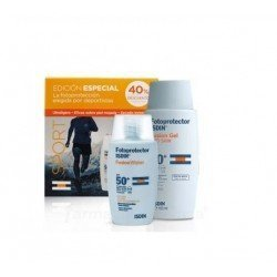 PACK SPORT FOTOPROTECTOR ISDIN FUSION SPF50+ GEL 100 ML + WATER FUSION 50 ML