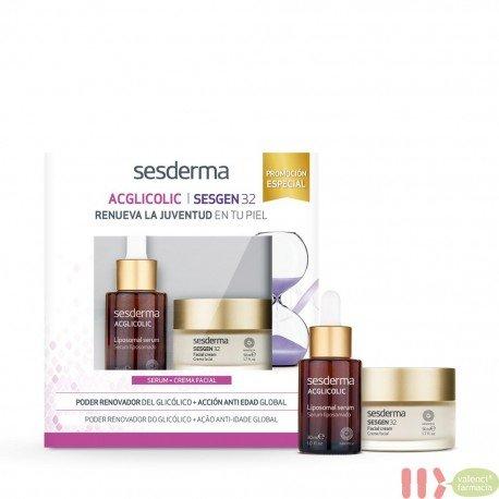 PACK SESDERMA ACGLICOLIN SERUM + SESGEN 32 CREMA