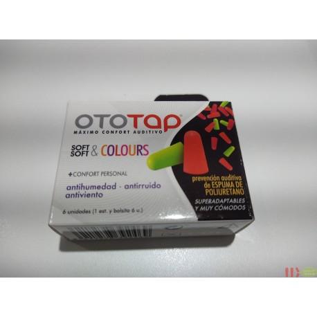 TAPONES OIDOS POLIURETANO OTOTAP SOFT & COLOURS 6 U
