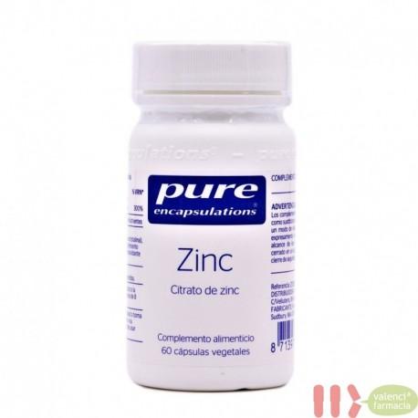 PURE ZINC ENCAPSULATIONS 60 CAPSULAS