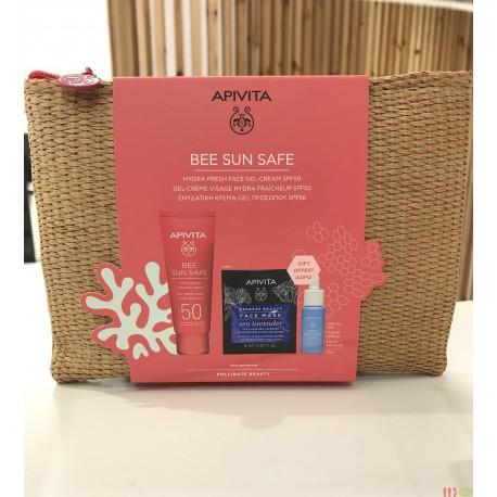 APIVITA NECESER BEE SUN SAFE SPF50 GEL-CREMA 50ML + REGALO BOOSTER+ MASCARILLAS HIDRATANTES