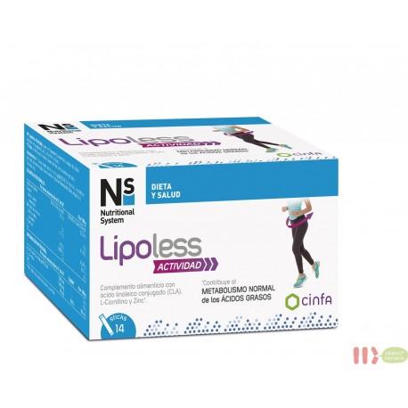 NS LIPOLESS ACTIVIDAD 14 STICKS 10 G